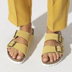 Birkenstock Arizona Ochre Suede Sandals